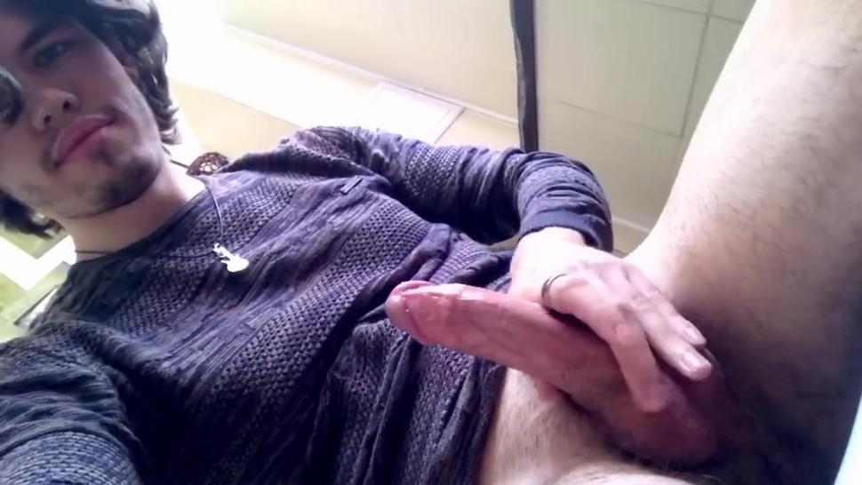 public restroom solo male masturbation