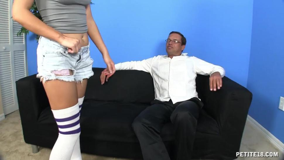 Sexy Teen With Stockings Sunny Marie In Action