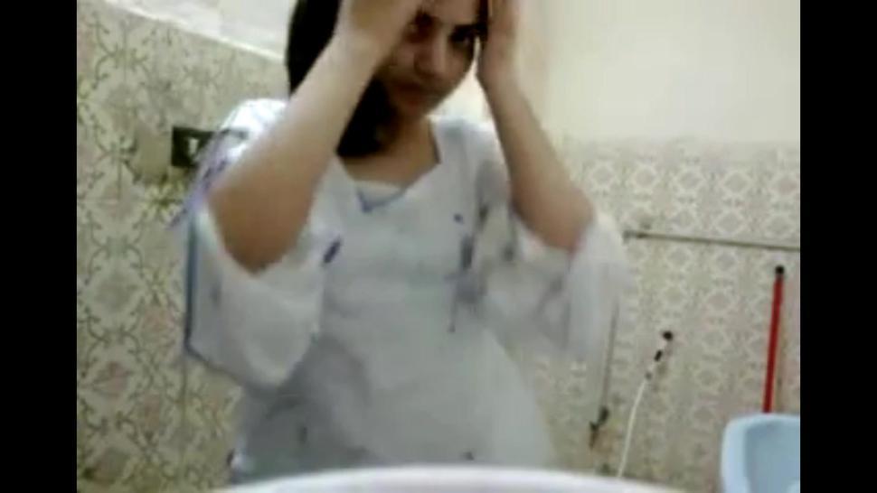 Arab Girl Takes Shower And Masturbates