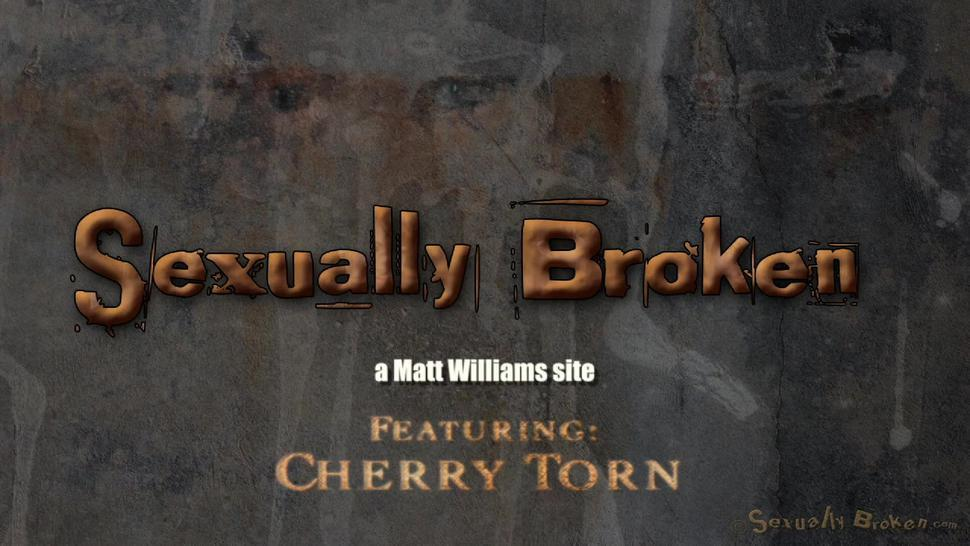 Tied Blonde Plays With Black Cock - Cherry Torn