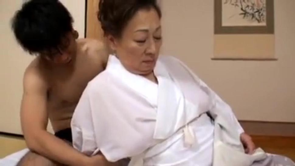 Fat japanese granny