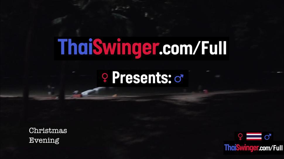 THAI SWINGER - Christmas eve with his hot Asian teen girlfriend was such a blast