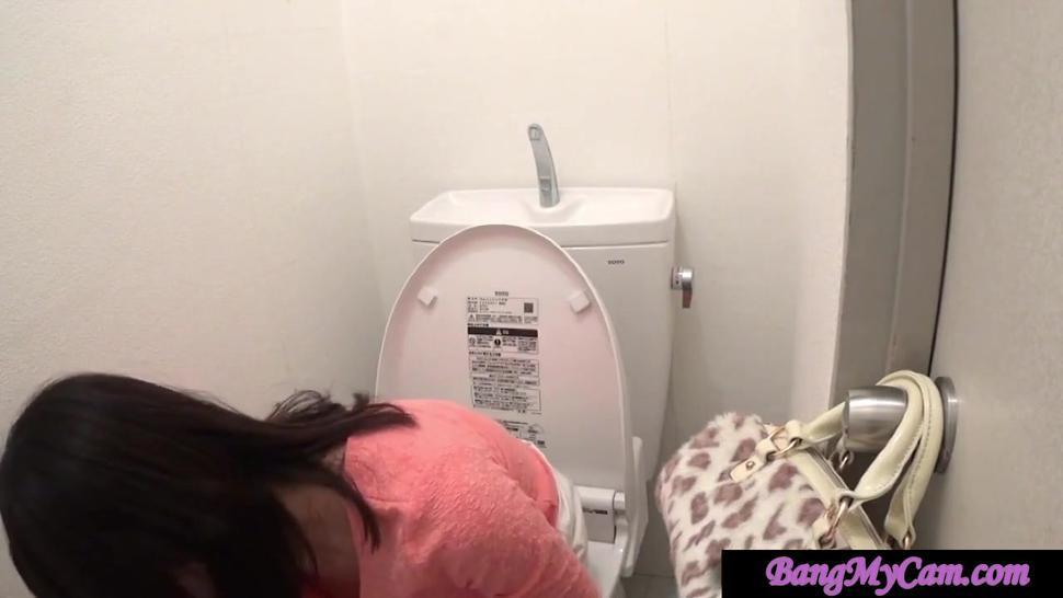 japanese toilet - masturbate squirt