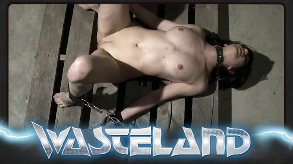 WASTELAND BDSM - Blonde slave is tied down on the table and flogged
