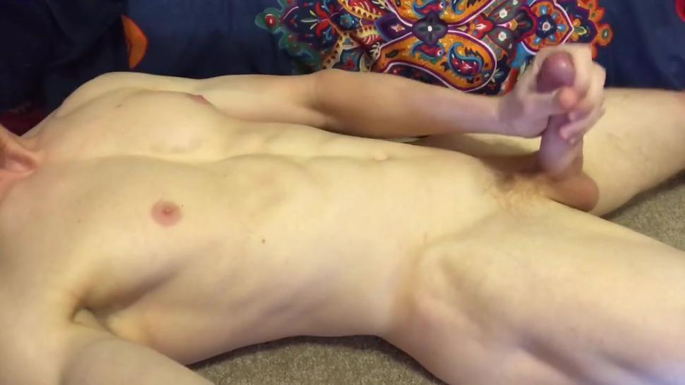 Muscle Stud Cums Twice All Over Himself