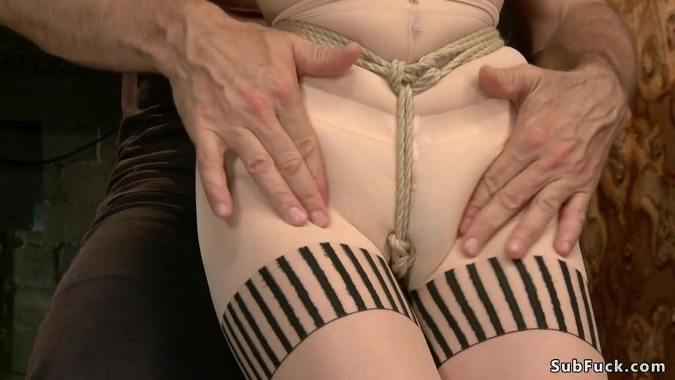 Butt plugged redhead pussy fingered