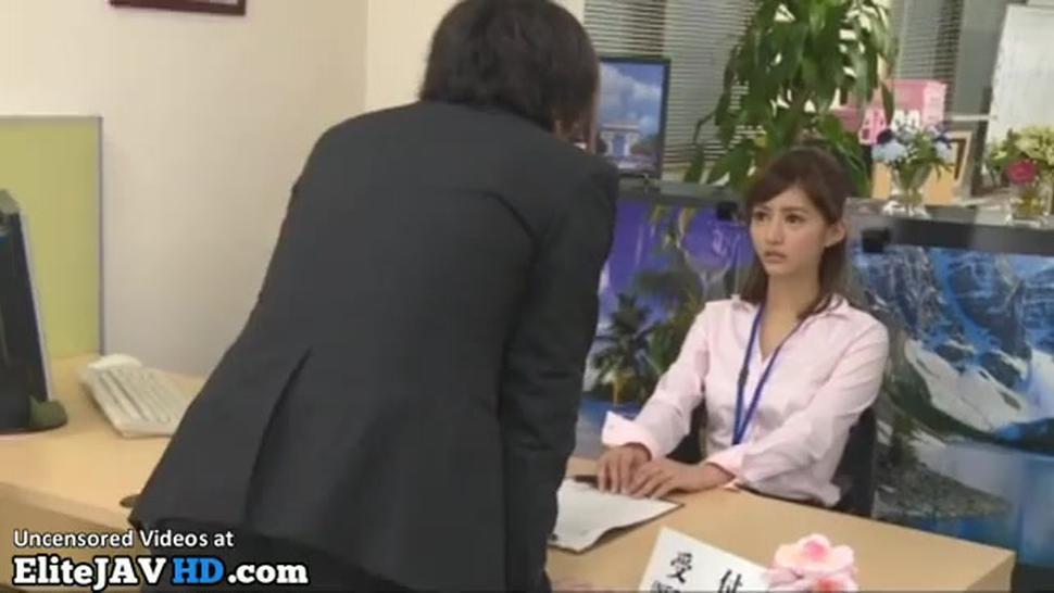 Japanese Secretary Pantyhose Footjob To Her Boss