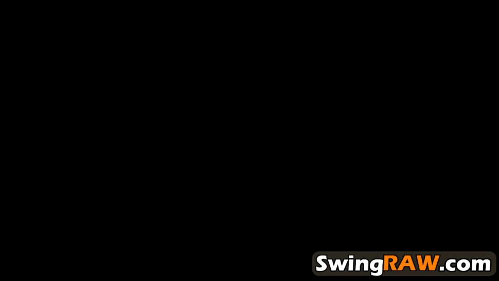 Married couple have a threesome in a swinger party - video 1
