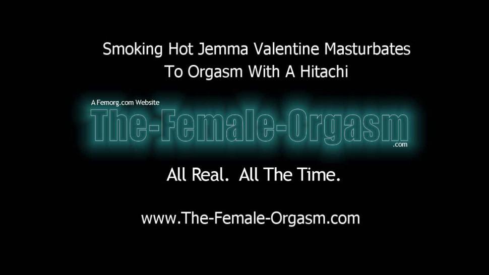 THE FEMALE ORGASM - Big Natural Breasts Hitachi Masturbation to Orgasm