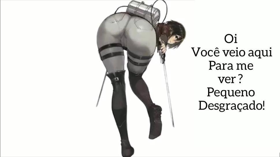 Mikasa hentai joi pt br (tradução/adaptação)