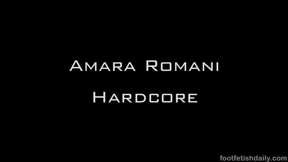 Amara's feet during sex