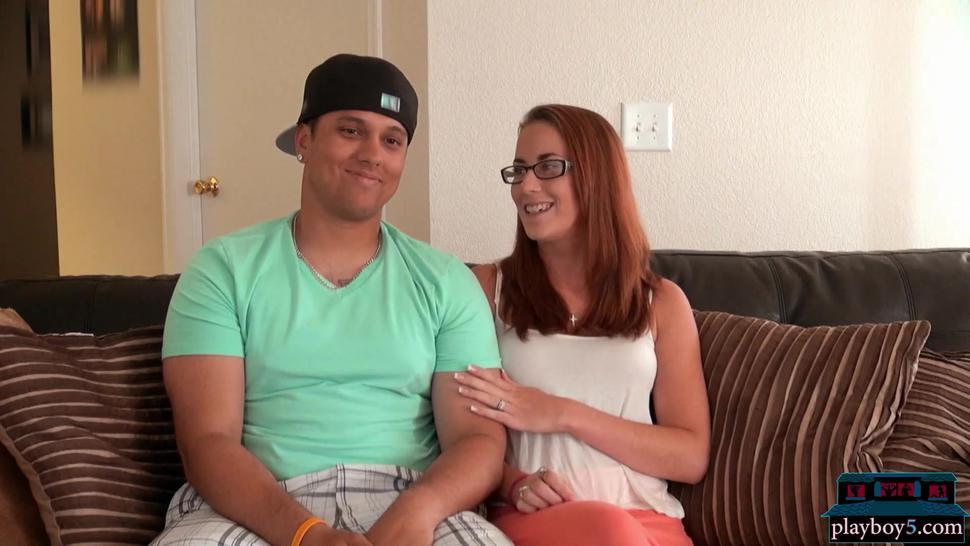 Married amateur couple ready to make a sextape at Adult Film School