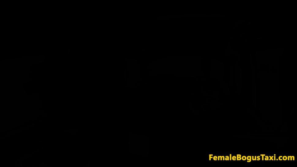 FEMALE BOGUS TAXI - Female taxi driver deepthroating passenger
