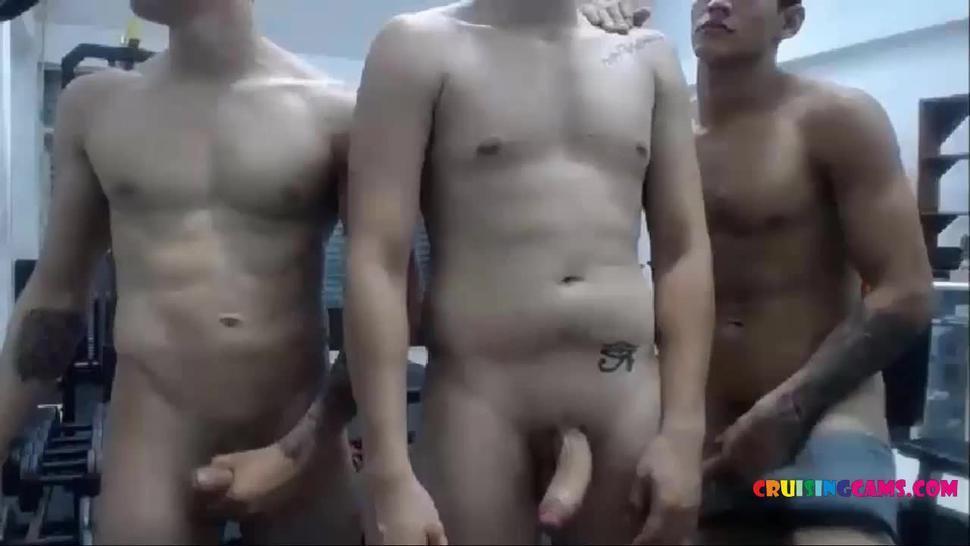Trainig gym for group masturbation live on Cruisingcams.com