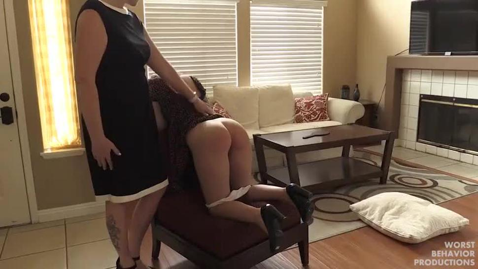 Teen spanked&butthole spanked for not paying rent on time