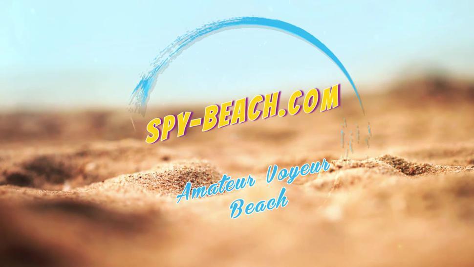 Two Horny Amateur Topless Teens - Voyeur Beach Video