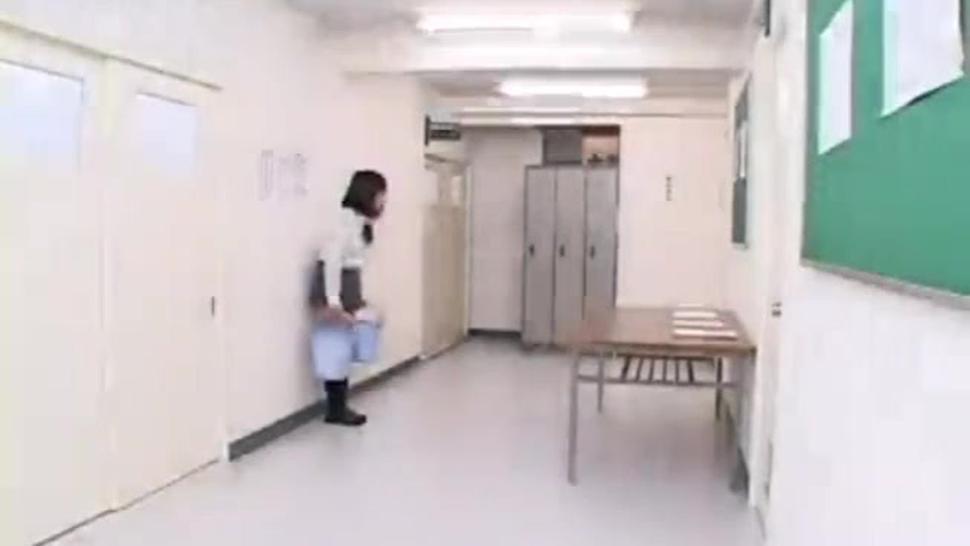 Hot Japanese Schoolgirl Humps Desk In Her Panties