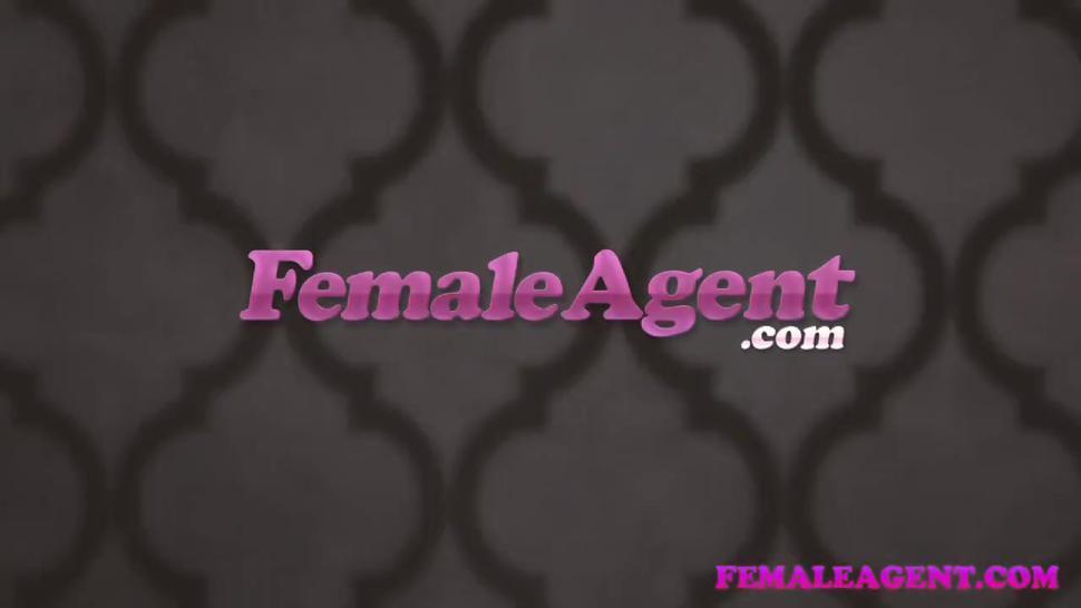 FemaleAgent Massive cumshot covers agents pussy
