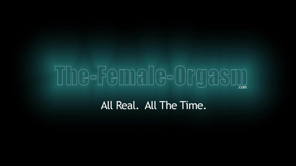 THE FEMALE ORGASM - Coed with Amazing Pussy Masturbates to Intense Pulsating Orgasm