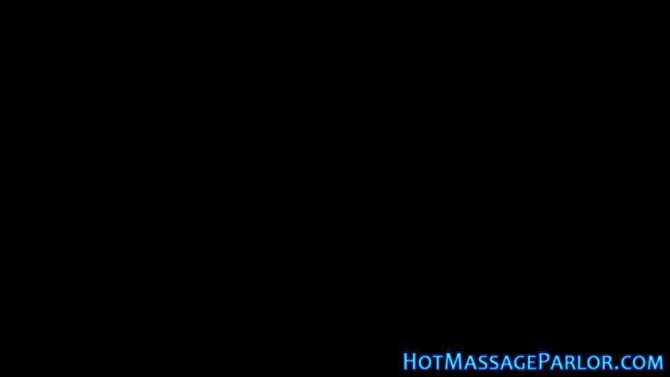 Slut masseuse strokes rod