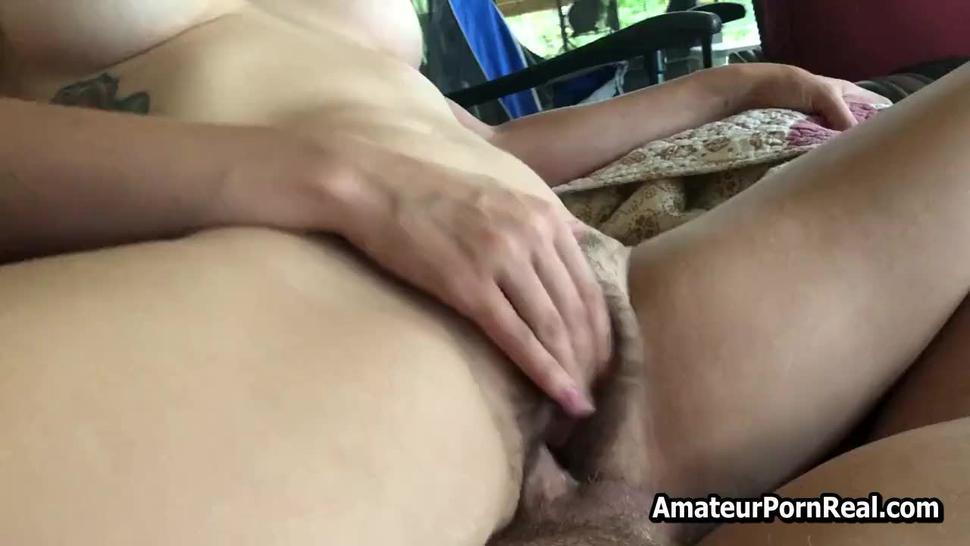 Fucks Hairy Amateur Mature Wife Outside House