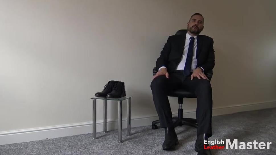15 minutes of suited, sock, chelsea boots and huge size 12 bare foot worship preview