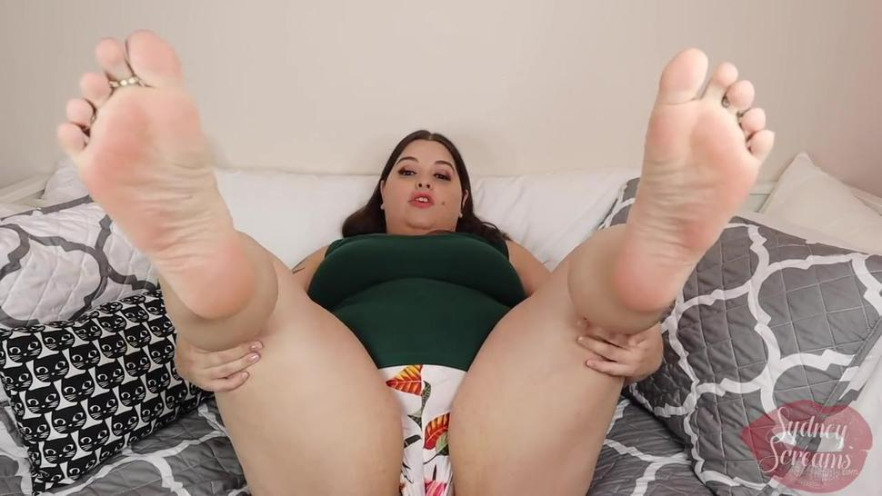 Suck My Toes with Jerk Off Instructions - POV Foot Worship Footjob JOI - PREVIEW - Sydney Screams