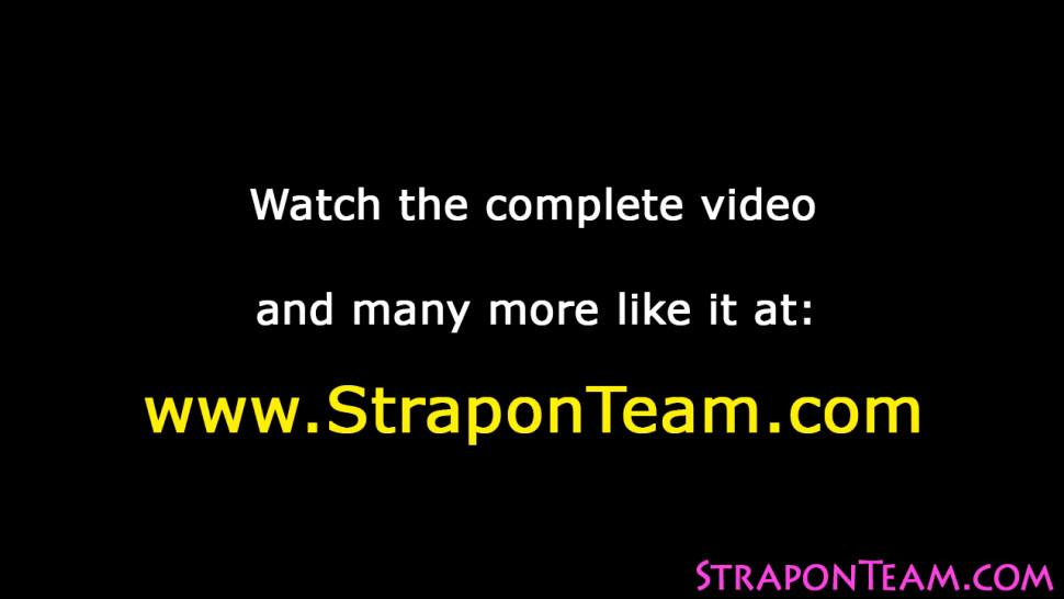 Strapon/slave fuck fetish strapon