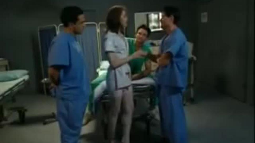 Butt Banged Nurses Chloe Nicole DP Anal Three Cumshots Female Orgasm