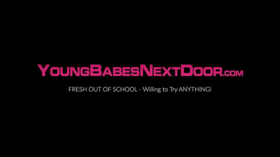 YOUNG BABES NEXT DOOR - Tanya Tate hot pussy licking and scissoring 19yo Elaina Raye