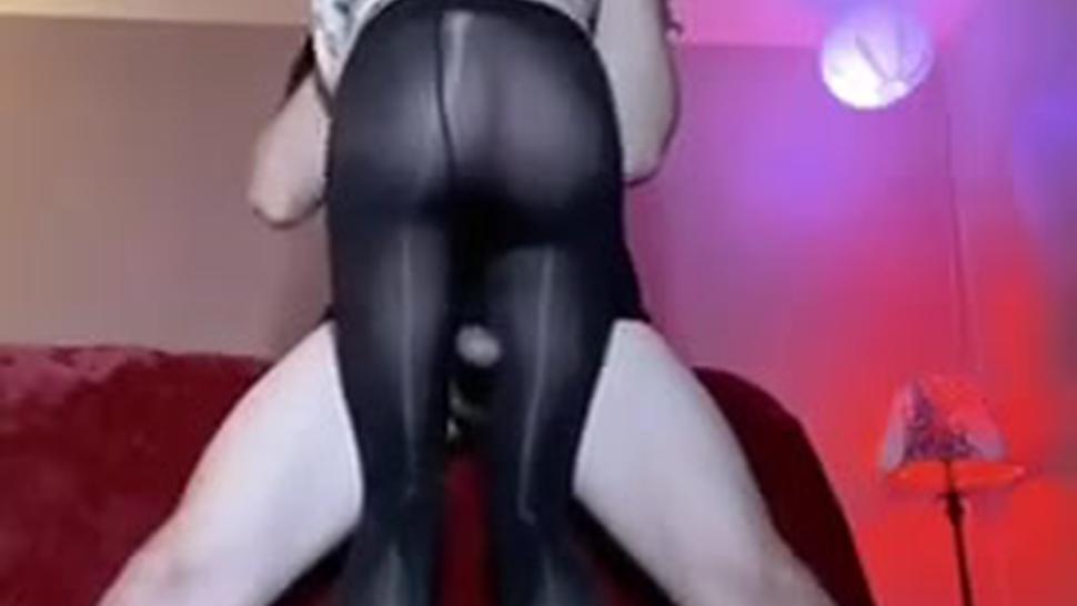 Intercrural (Between Legs) Sex - Rub Your Dick On My Nylons - Milf Pantyhose Thigh Job Clip!