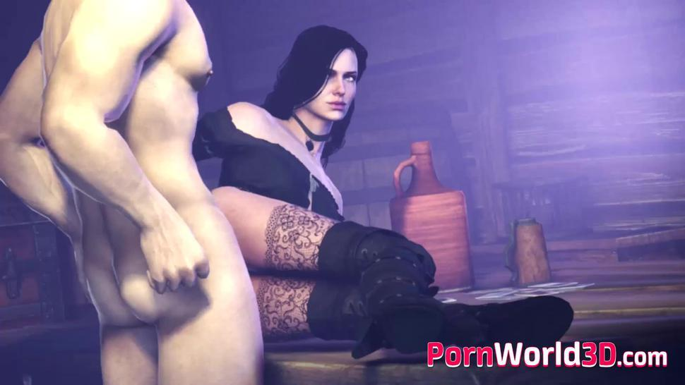 Hentai Yennefer from 3D Game The Witcher 3 is Used as a Sex Slave