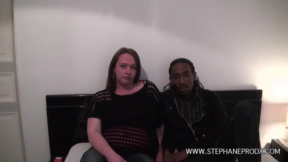 Inessa hot french redhead bbw get fucked by her black boyfriend
