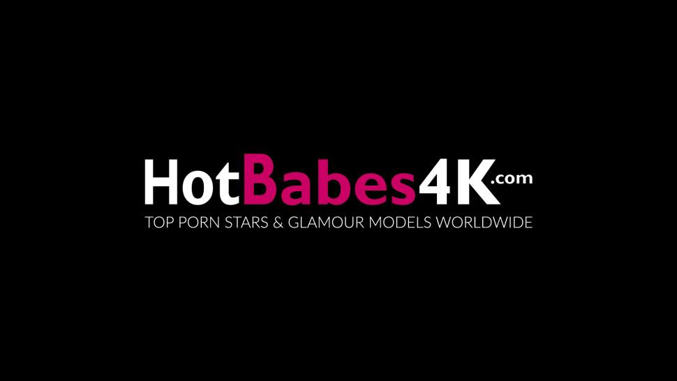 HOT BABES 4K - Blond with big perfect tits Raylene Richards teases solo