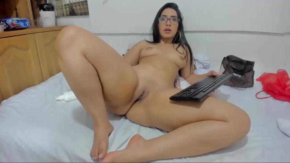 Incredibly Thick Latina Riding & Fucking Dildo