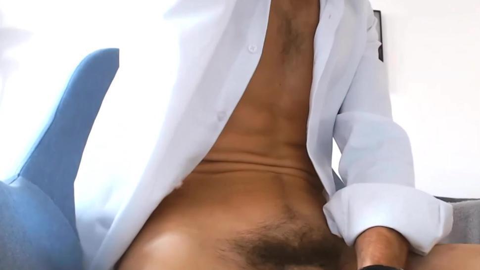 Benjamin big long uncut cock 2 cum loads