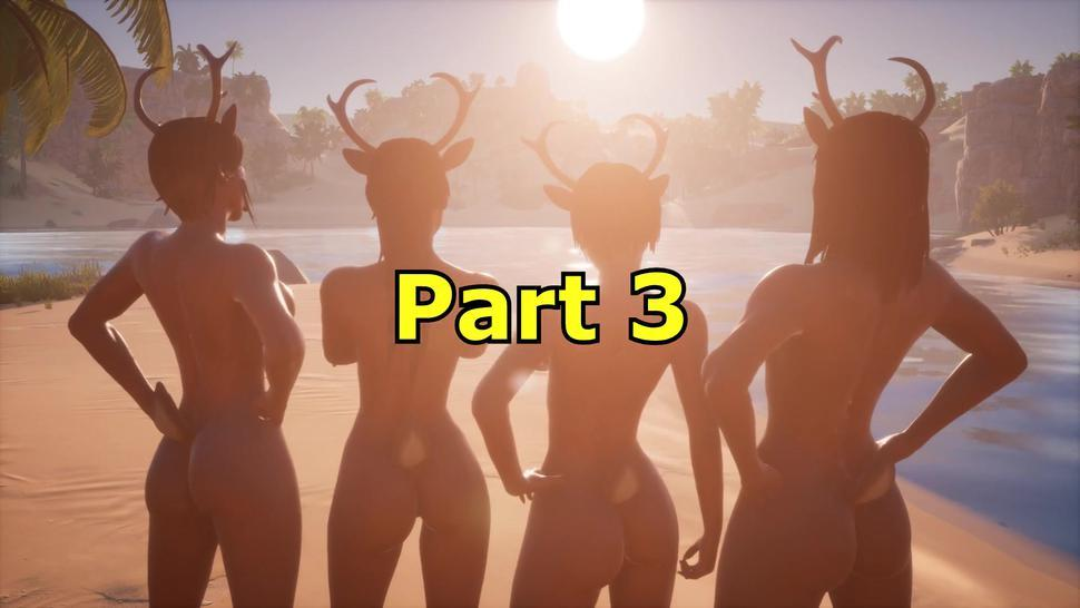 Santa Meets Rudie the Futanari Reindeer - Sexy Reindeer Girls Part 3 (Wild Life)
