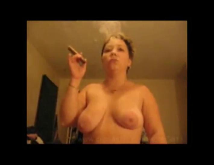 Smoking Dawn smoking a cigar and fucking