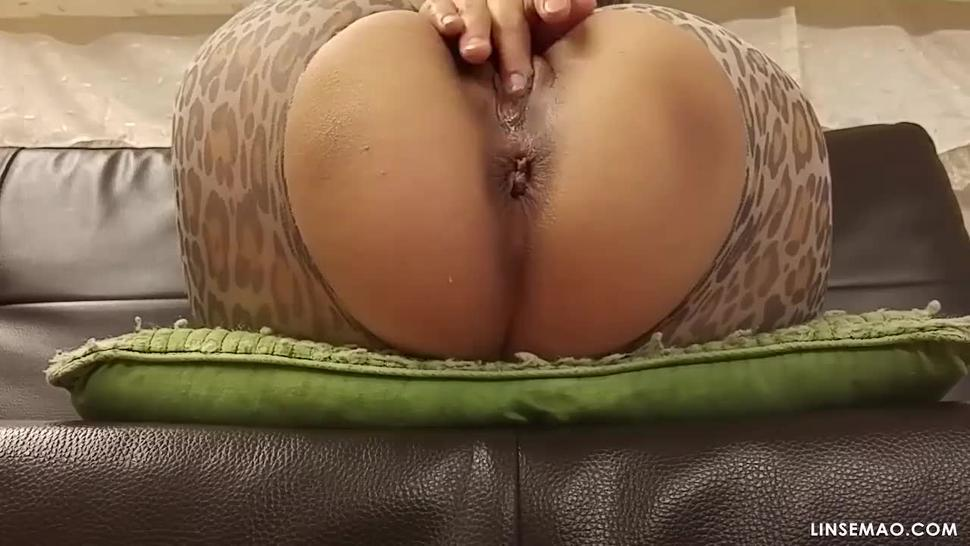 real horny woman masturbating to discharge white cream, grool