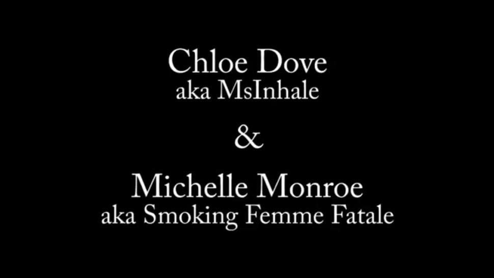 The amazing Chloe(MsInhale) chain-smoking with her hot blond friend