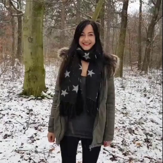 cute girlfriend experience quickie in woods - cum on tongue - video 1