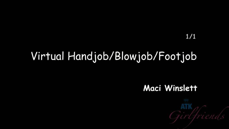 Footjob, Blowjob And Handjob By Really Hot Chick - Maci Winslett