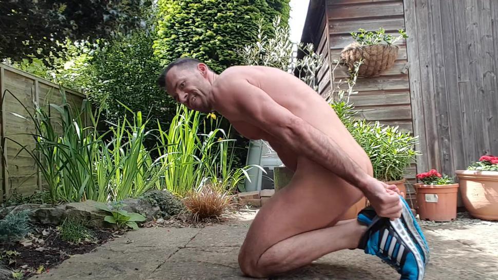 Lockdown naked exercise