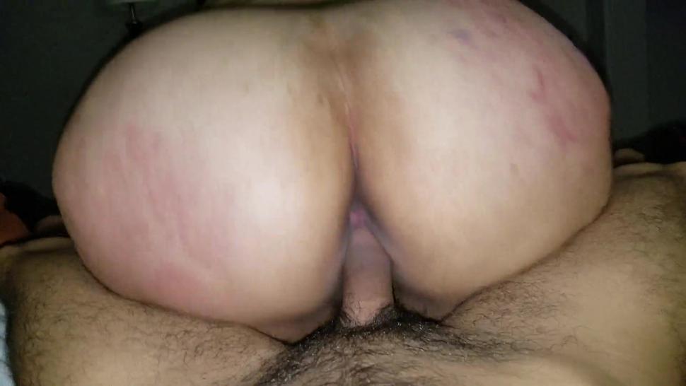 Fat Ass BBW rides dick