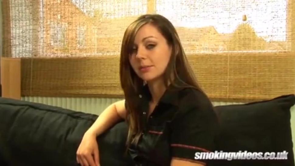 Gorgeous young British girl smoking sexy