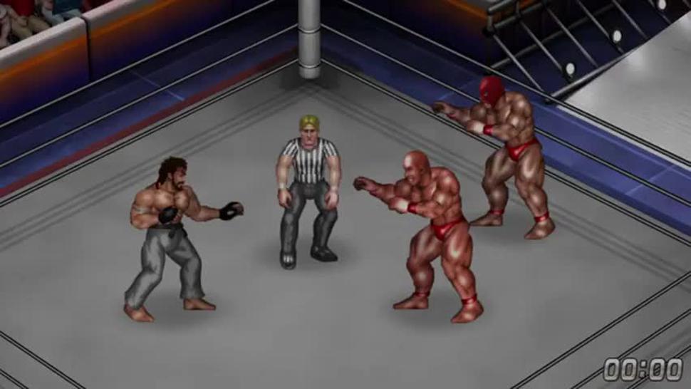 Fire Pro Wrestling World - Gyaku Male Ryona - Giant Brothers vs Ryu
