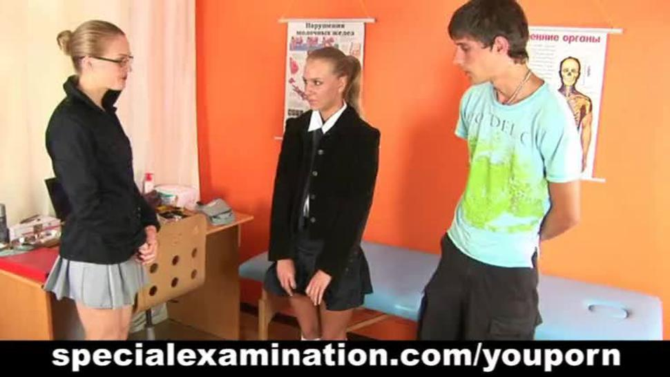 Special gyno exam for hot blonde
