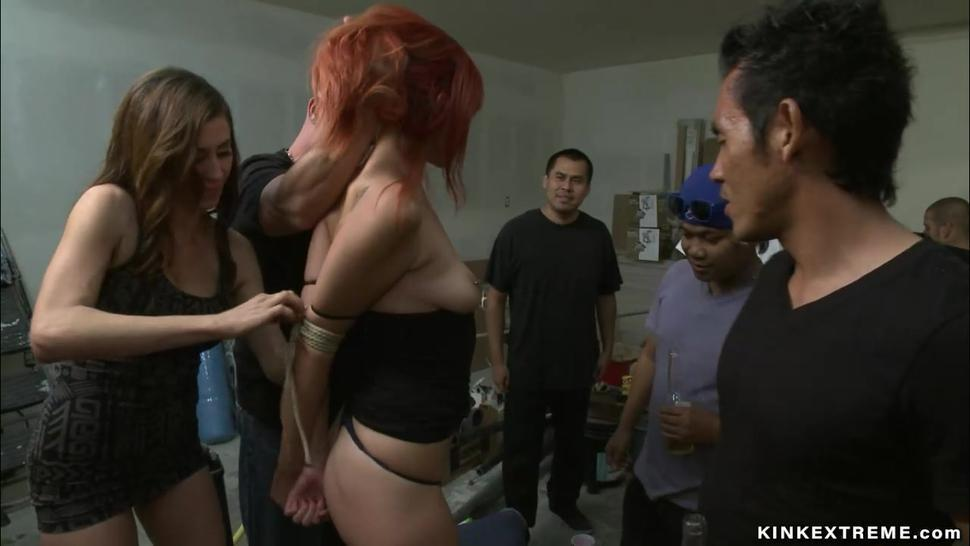 Redhead public anal and fist fucked
