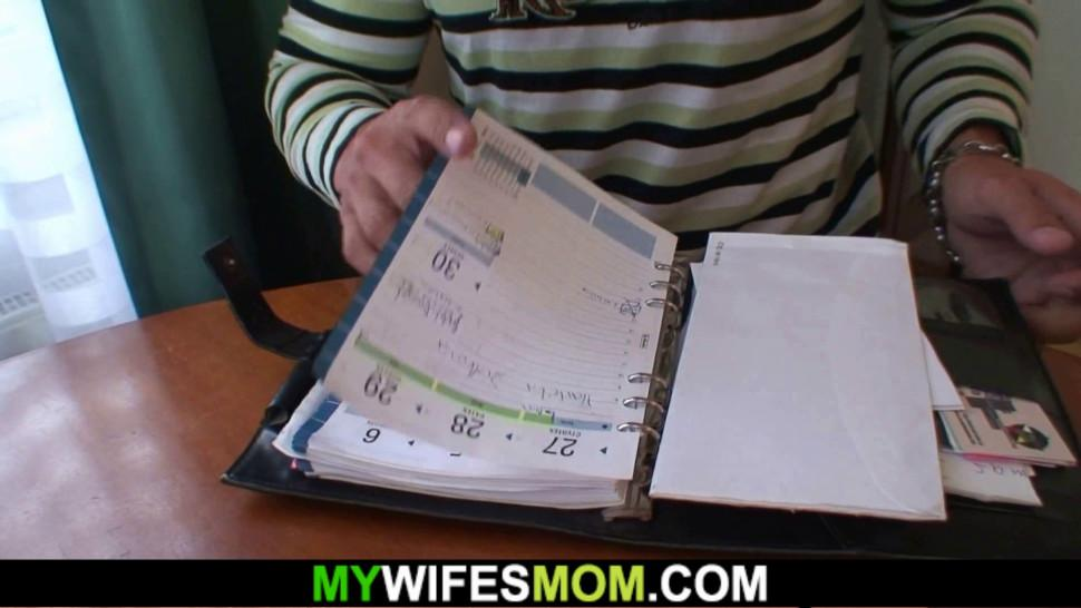 MYWIFESMOM - Horny big tits mother in law loves riding his dick