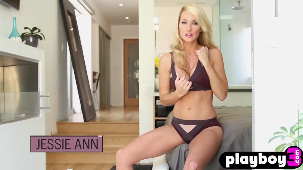 Playboy model shows what she knows in striptease action